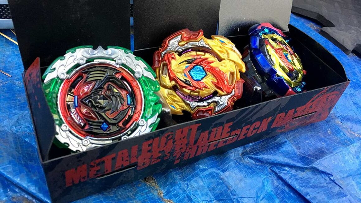 wbba beyblade deck box filled with perfect phoenix lorod spriggan and judgment diabolos