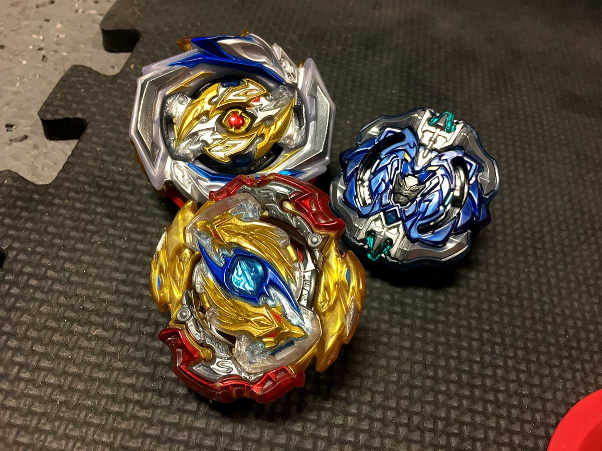 deck of three beyblades imperial odin archer hercules and lord longinus