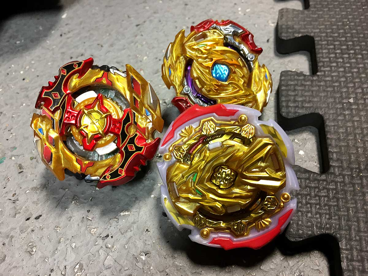 deck of three beyblades judgment valkyrie cho-z spriggan and lord dragon 2