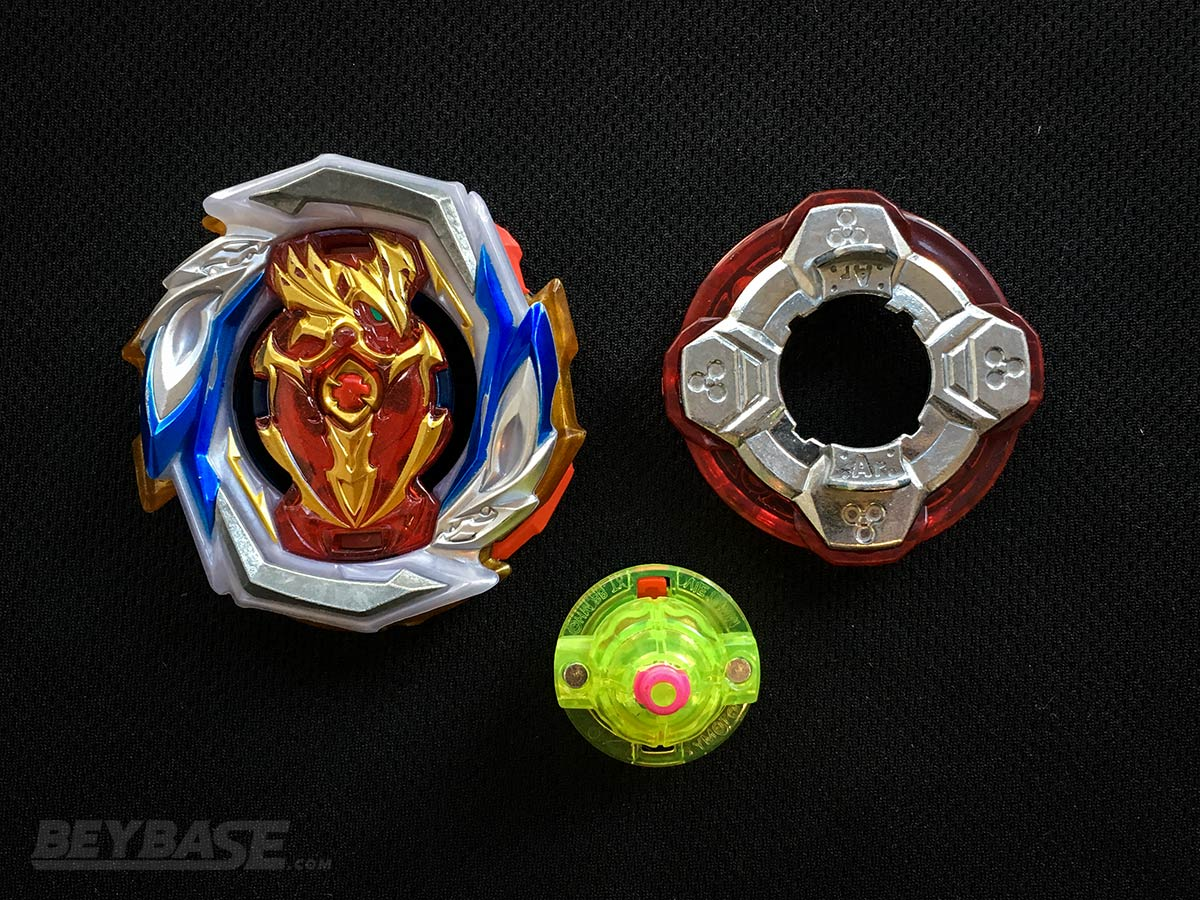 Ardmore Blader's Underrated Best Beyblade Burst Combo Imperial Achilles Around Unite Dash – Parts Separated