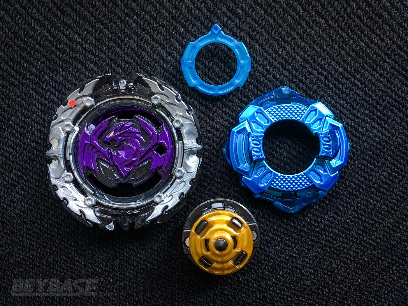 Best Beyblade Burst Combo Perfect Phoenix (Level Chip) 00 Cross Xtend Plus – Parts Separated