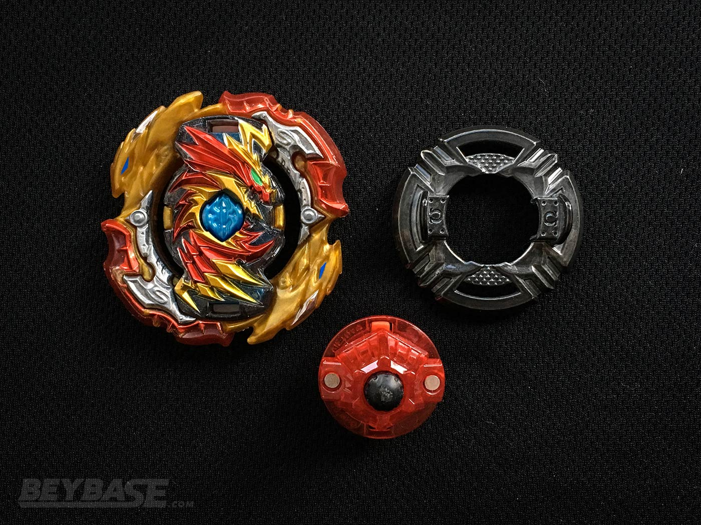 LazerBeamz 5th Best Beyblade Burst Combo Lord Diabolos II Outer Keep Dash – Parts Separated