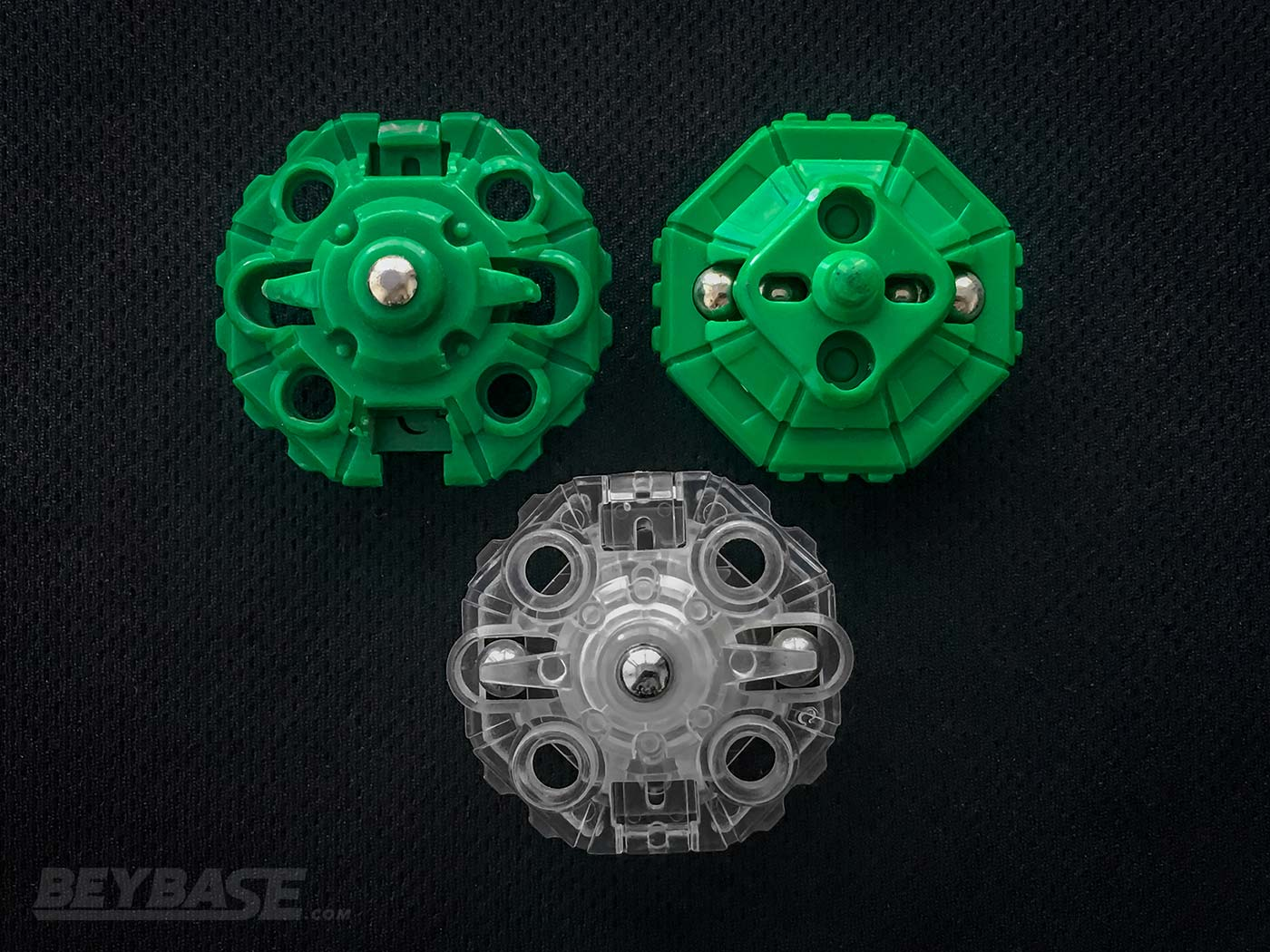 Bakuten Shoot Beyblade Draciel Blade Bases: SG Metal Ball Base, Metal Ball Base, and Fortress Base