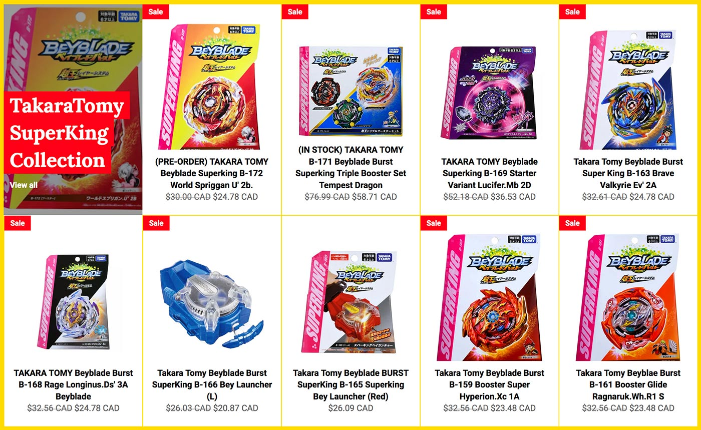 Malloftoys.com Beyblade Store Website screenshot