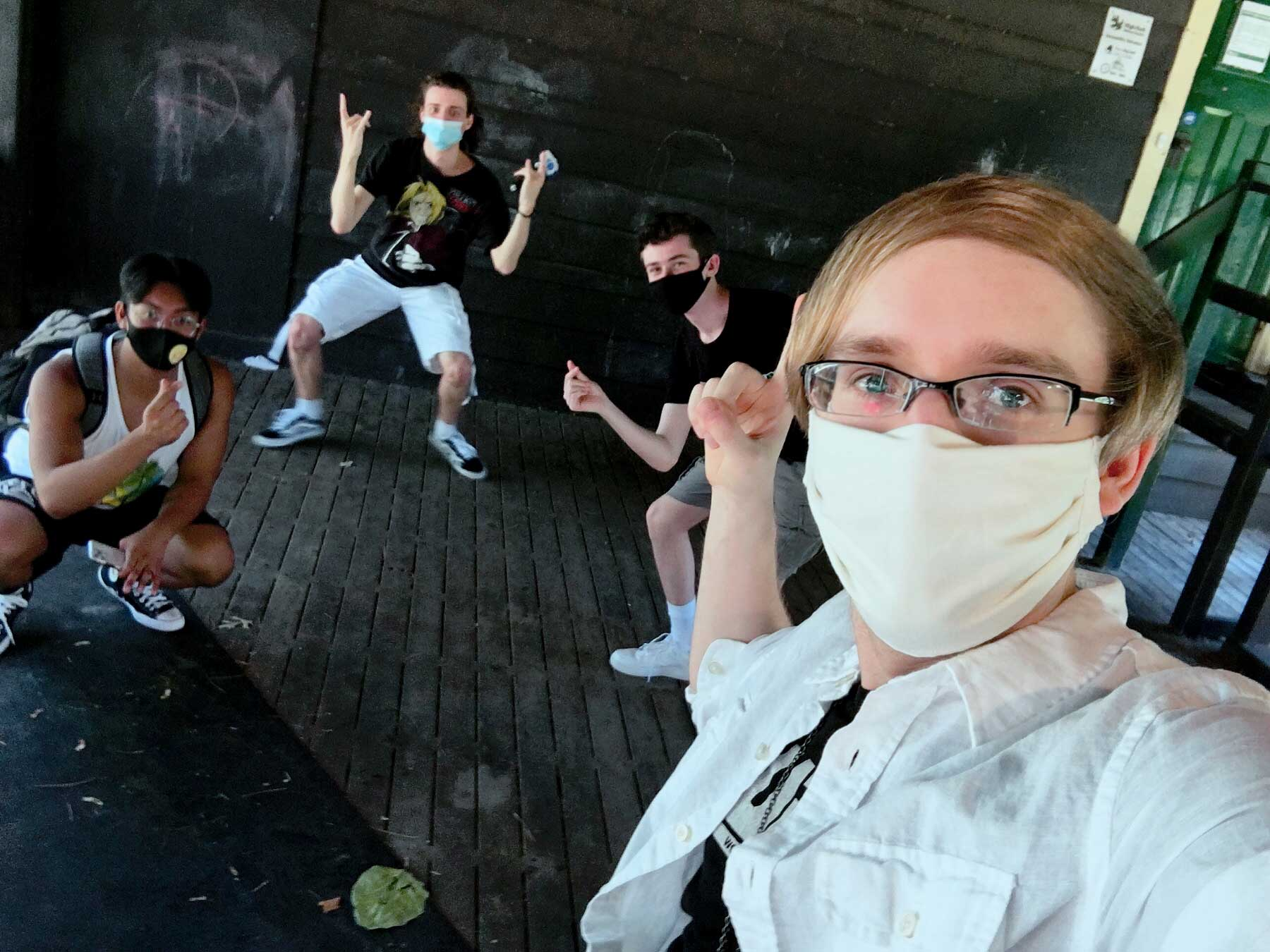blader kei selfie with mitsu 1234beyblade and jesseobre