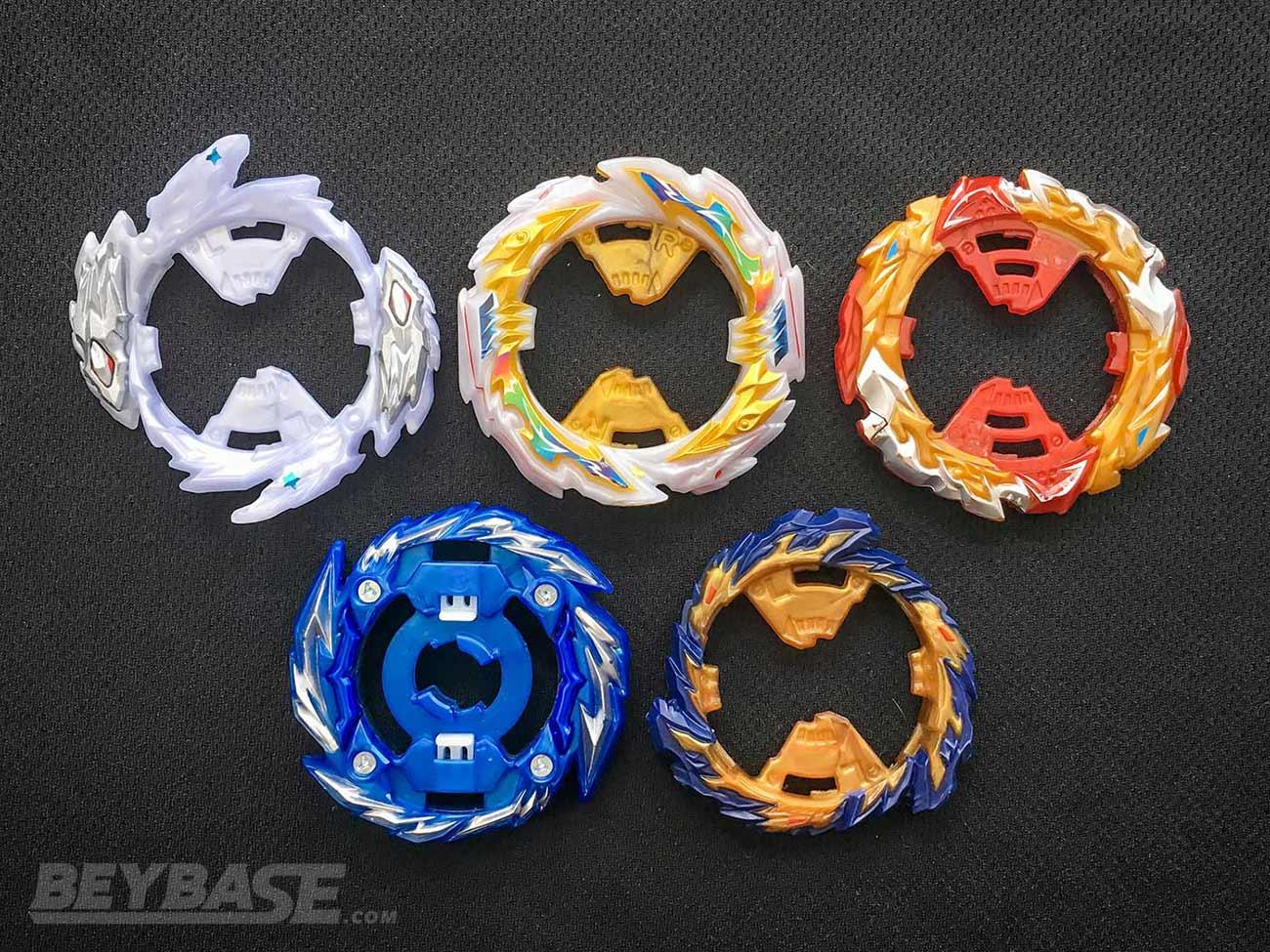 popular beyblade burst rings: rage, tempest, world, mirage, master