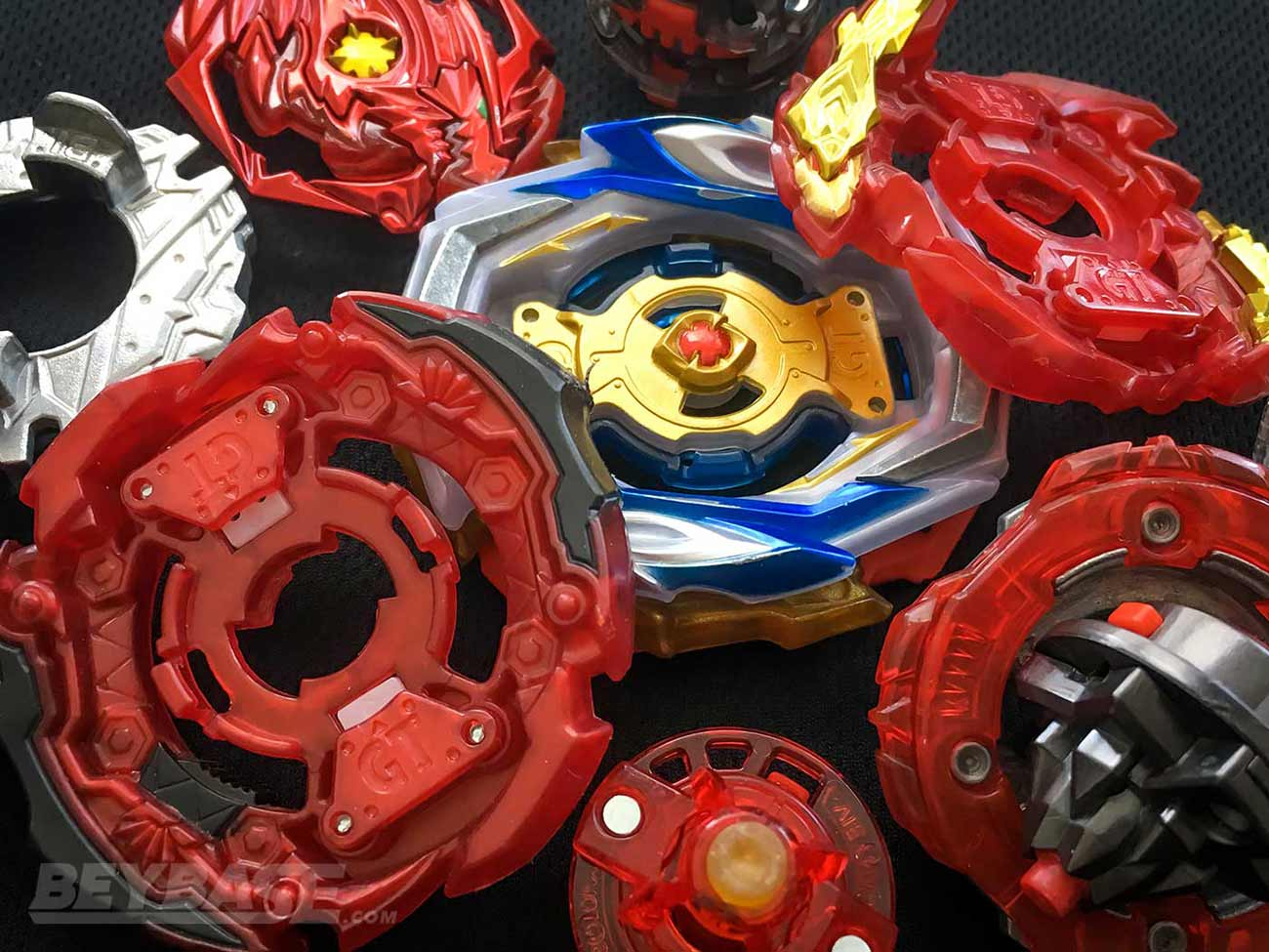 beyblade burst pile of the best attack type parts
