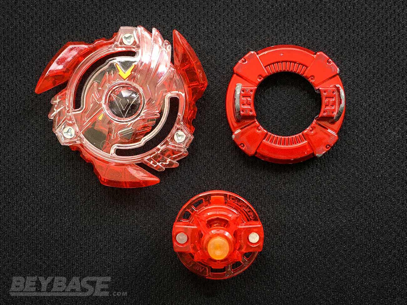 beyblade burst classic attack combo parts: victory valkyrie layer, heavy disk, and xtreme dash driver