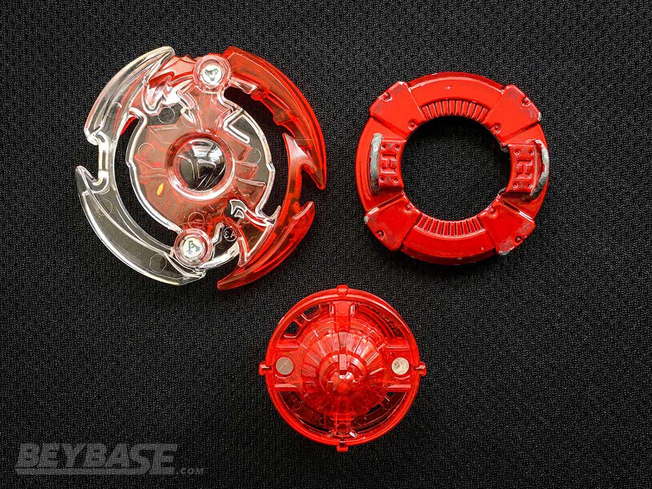 beyblade burst classic stamina combo dark deathscyther layer, heavy disk, and defense driver
