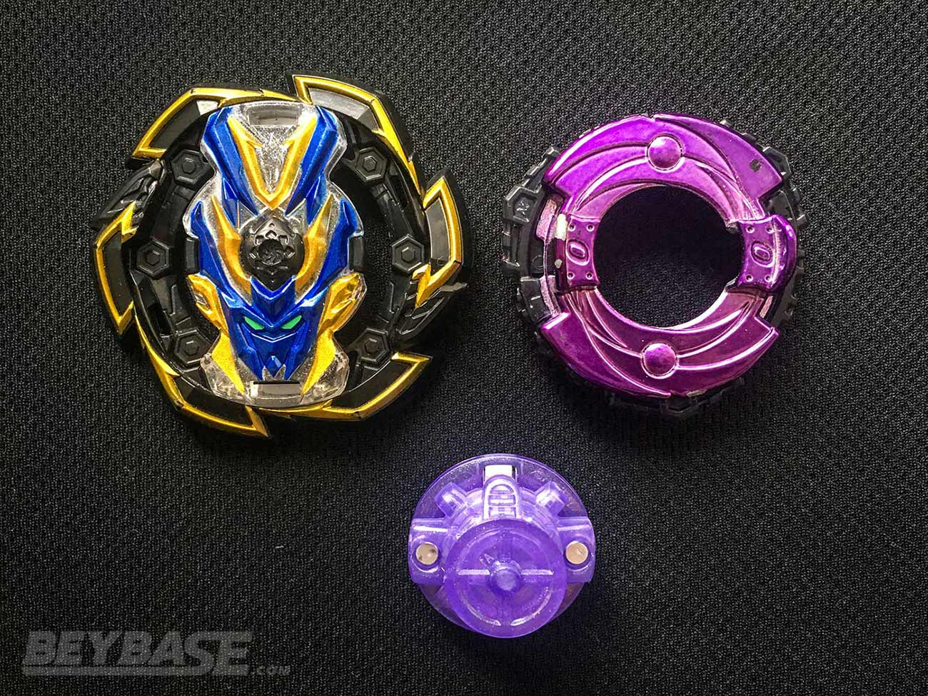 beyblade burst combo parts: rock valkyrie gen, 0 lift, and rise